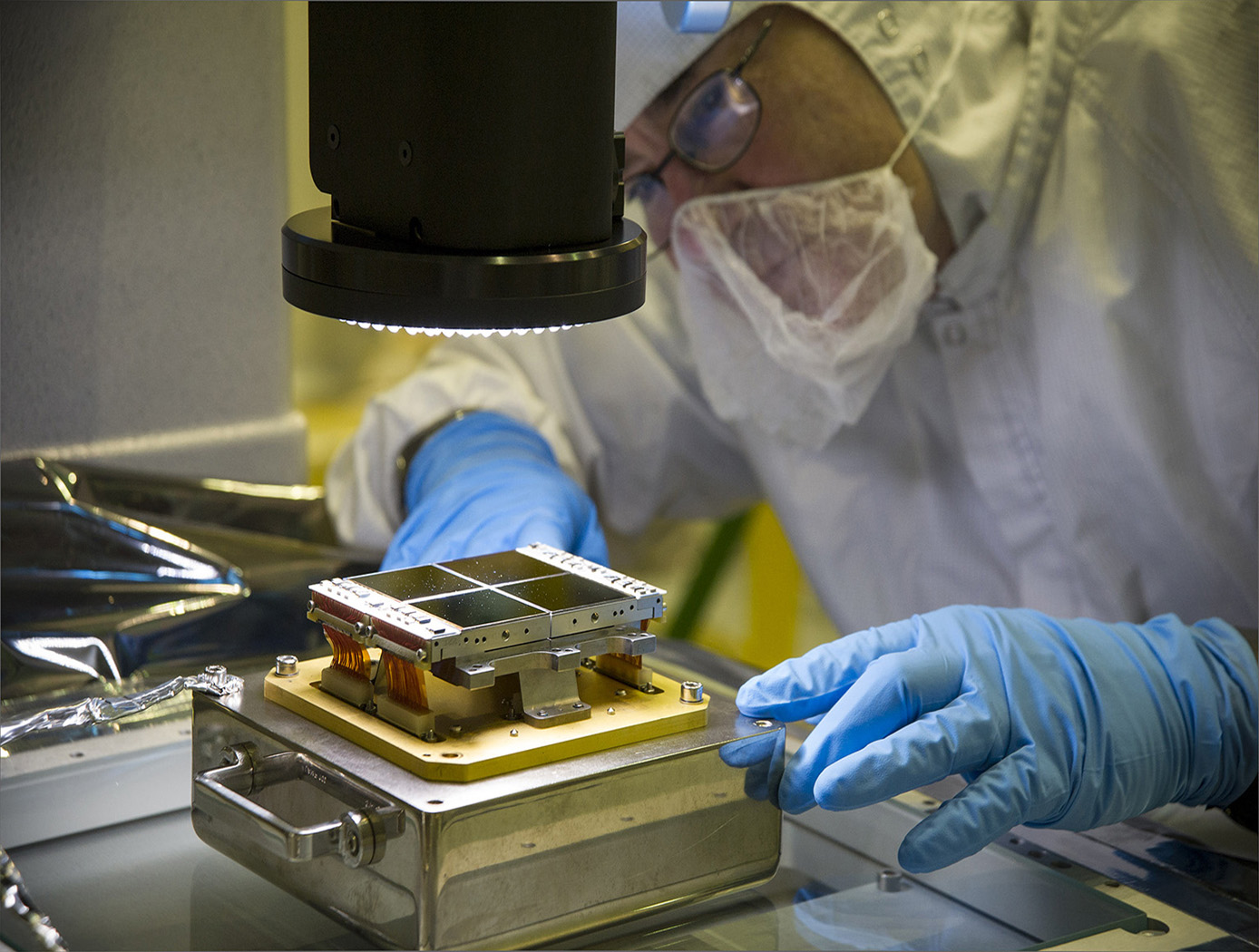 NASA Goddard Space Flight Center Webb Instruments Perfected to Microscopic Levels