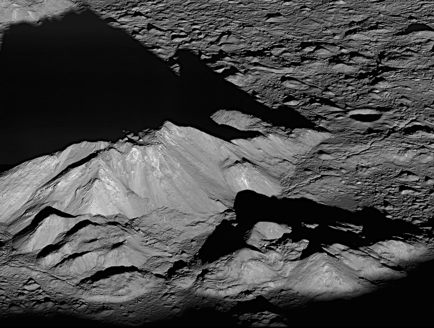 Tycho Crater's Peak; Credit: NASA Goddard/Arizona State University