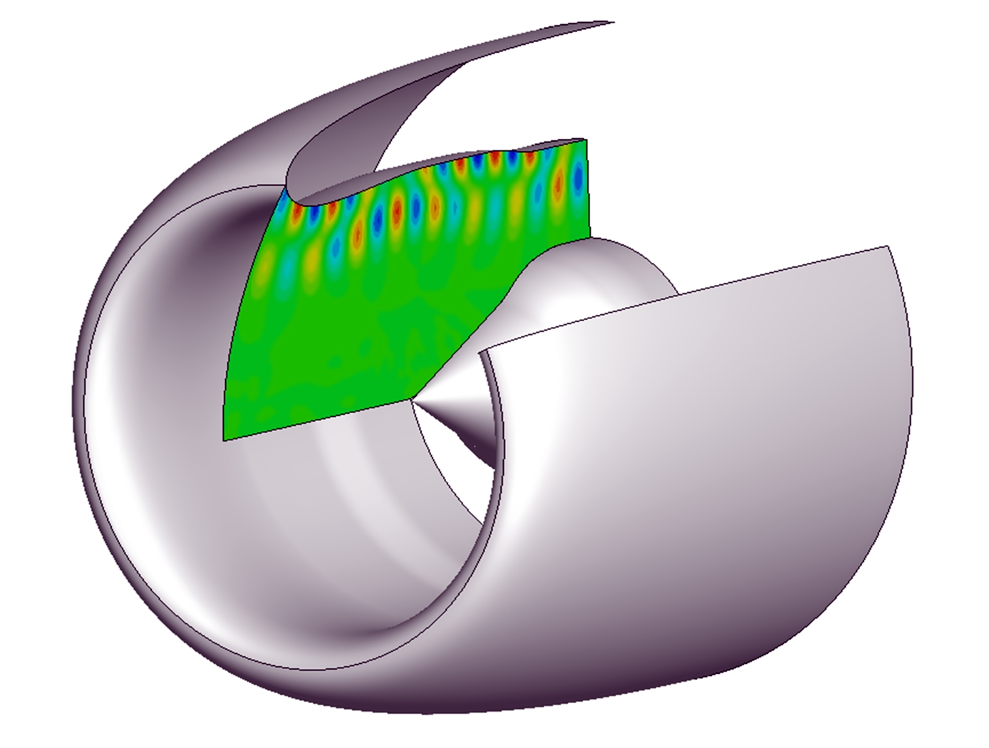 Example inlet duct propagation prediction (related to first invention)