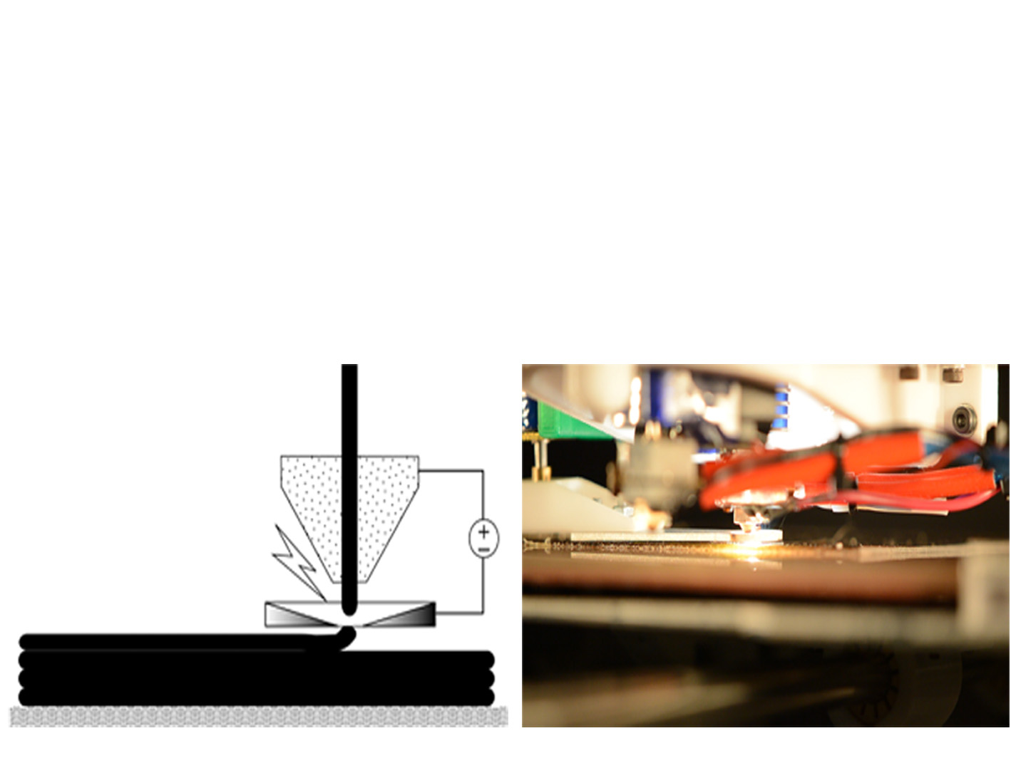 Method and apparatus for cutting nanotube filaments in a 3D Printer. Image credit: NASA
