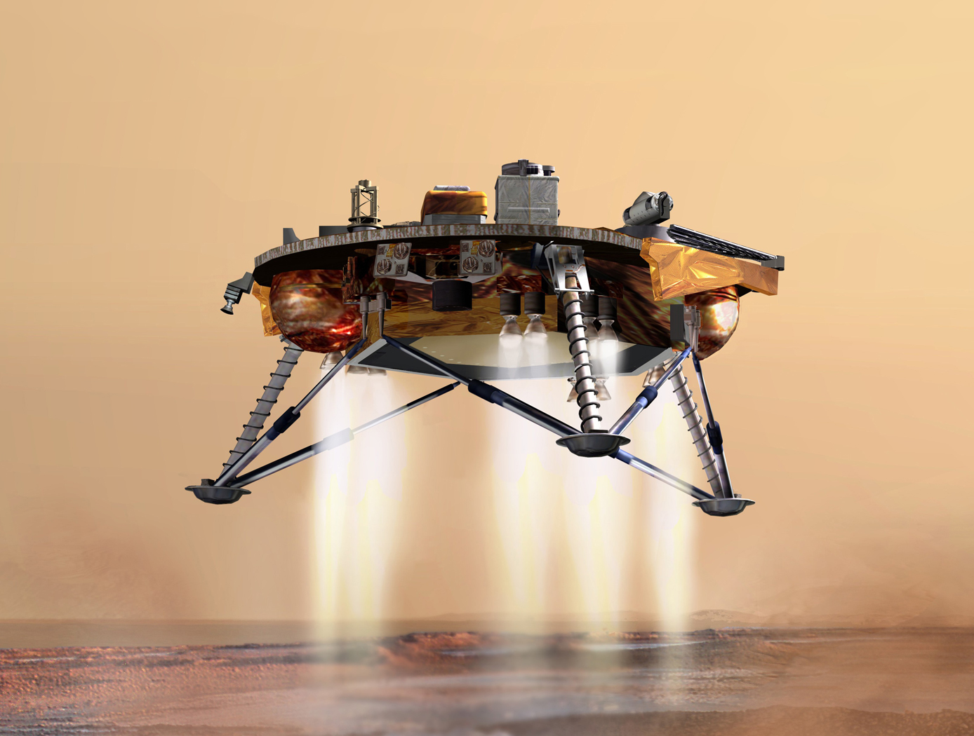 Laser Linear Frequency Modulation System Superlinear Fm Modulator Vehicle Landing On Mars
