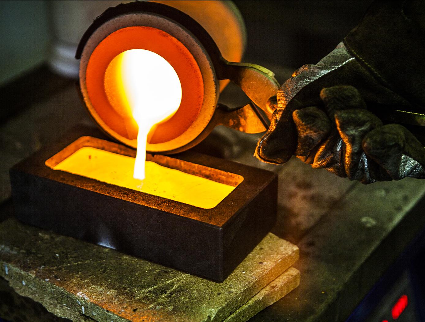 Molten Gold Pour
