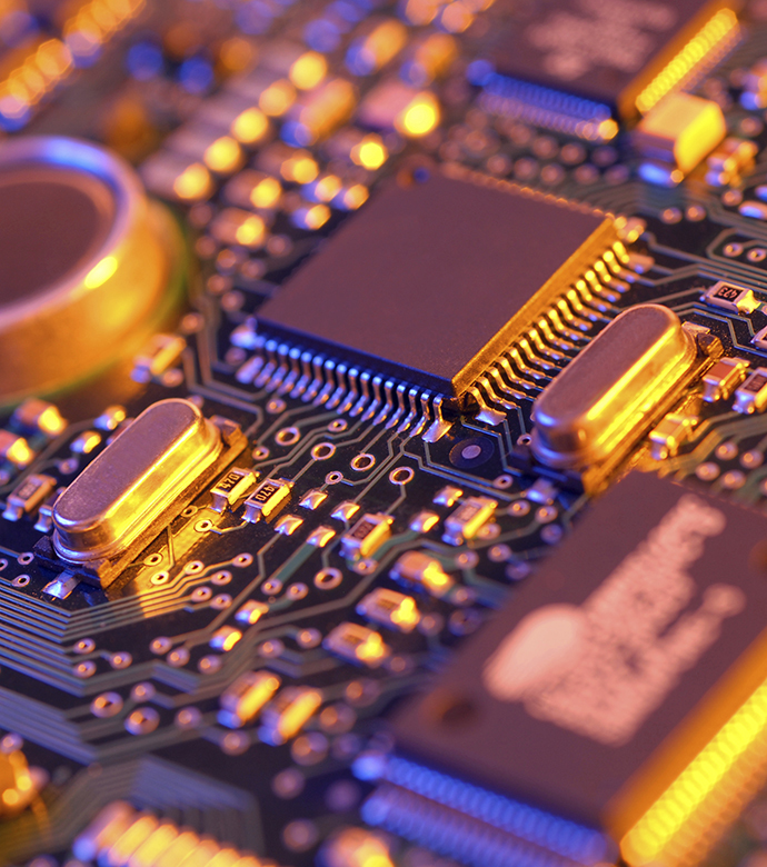 Durable integrated circuit chips are particularly useful in high-temperature environments