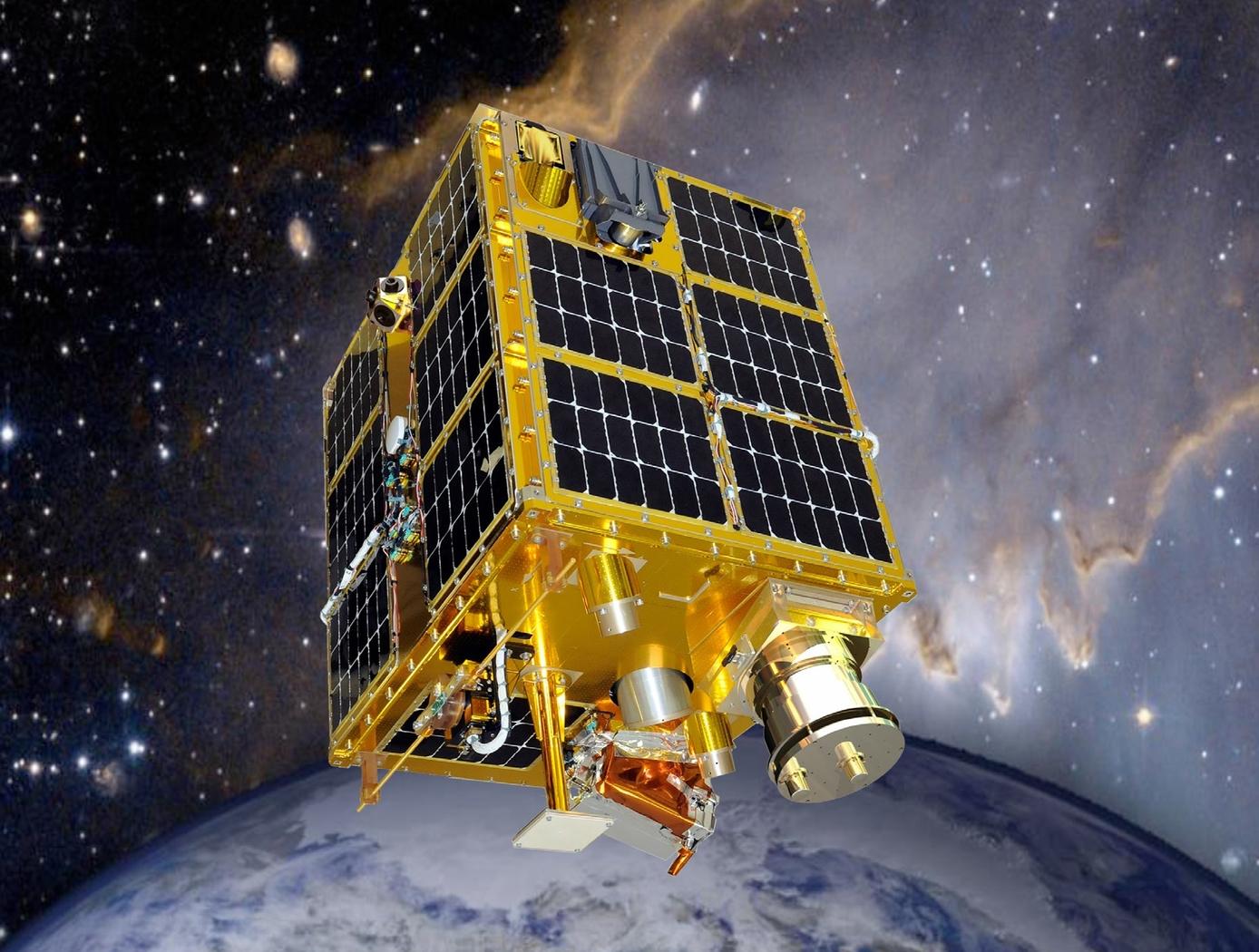 Rendition of NASA's FASTSAT in orbit.