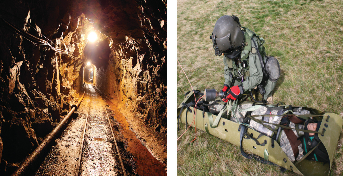 The technology has applications in both the mining industry and on the battlefield.