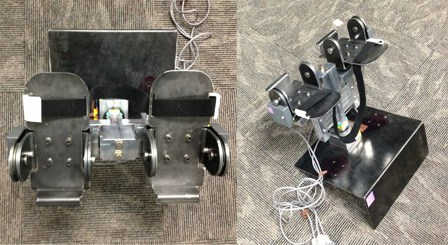Foot Pedal Controller Prototype Top and Side View