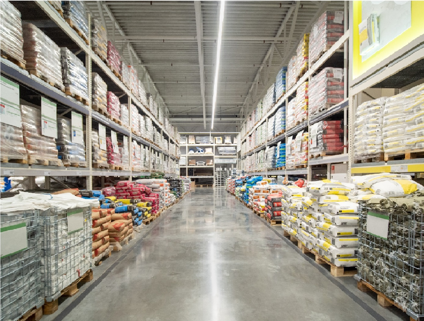 Warehouse with different items