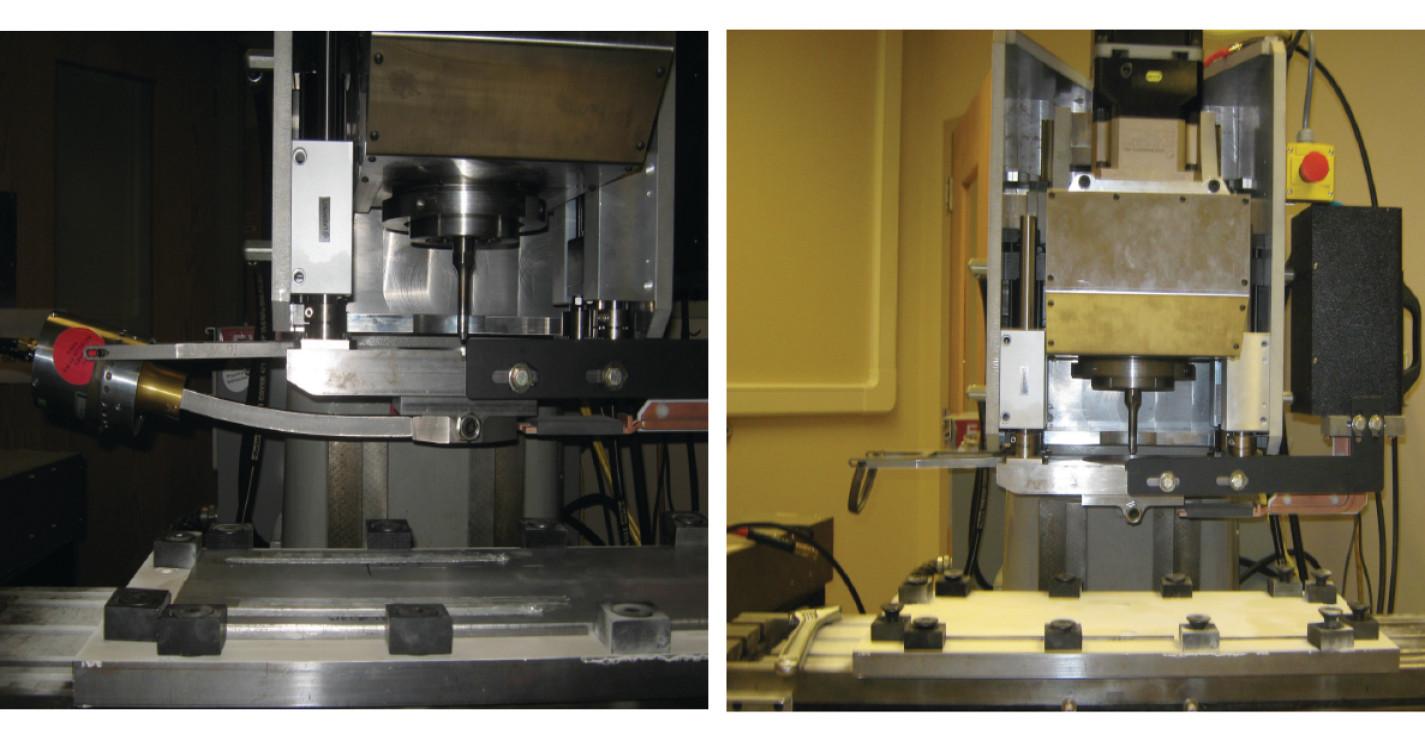Photographs of the Ultrasonic Stir Welding equipment